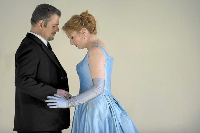 Los protagonistas de la ópera, que se estrena el día 17 en el Liceu.