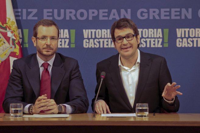 El alcalde de Vitoria y y el líder del PNV local presentan el...