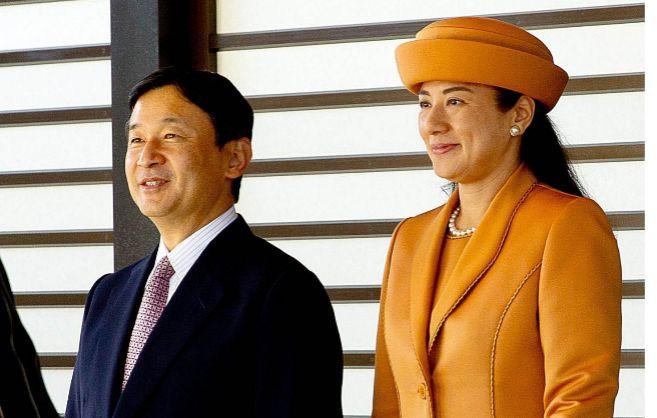 Naruhito y Masako de Japón, durante la recepción oficial a los reyes...