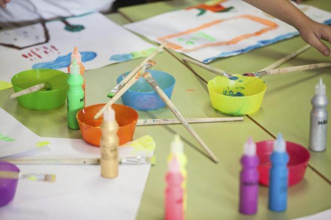 Material utilizado por alumnos de primaria del colegio Tinguaro, en...