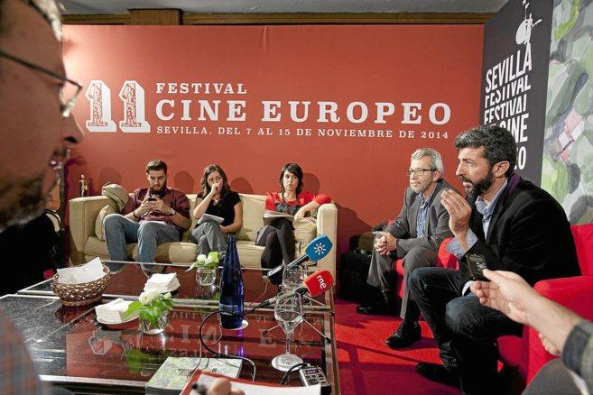 Alberto Rodríguez, en el encuentro con periodistas por su premio en...