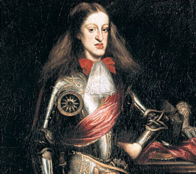 Retrato de Carlos II realizado por el pintor Juan Carreño de Miranda