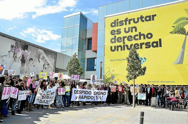 Imagen de una protesta de trabajadores de Orizonia poco después del...