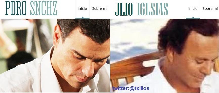 Pedro Sánchez se parece a Julio Iglesias promocionando un disco, 'y...