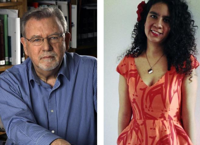 Óscar Hahn y María Gómez Lara.