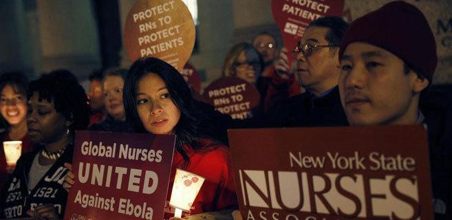 Protesta en Nueva York para pedir mayores garantías para los...