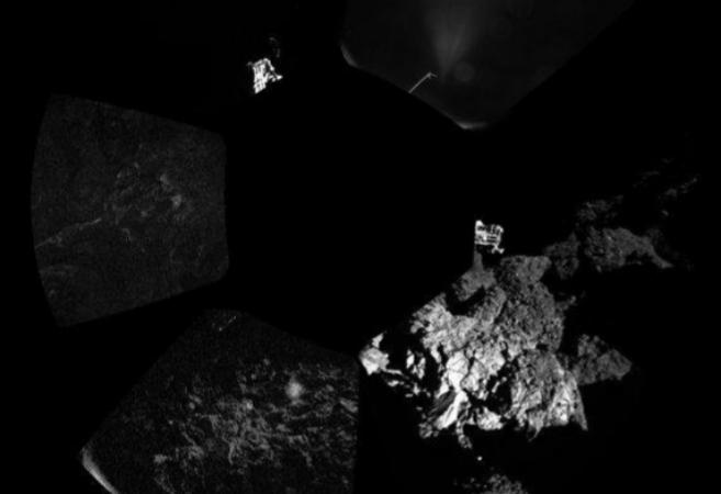 Philae se encuentra en una zona oscura que no le permite recargar sus...