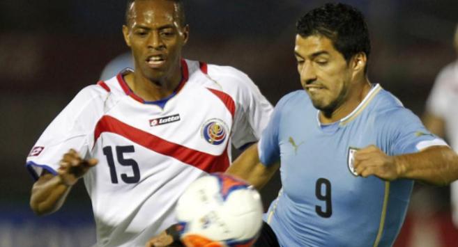 Suárez, en el partido contra Costa Rica.