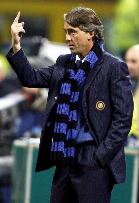 Mancini, durante su anterior etapa como entrenador del Inter.