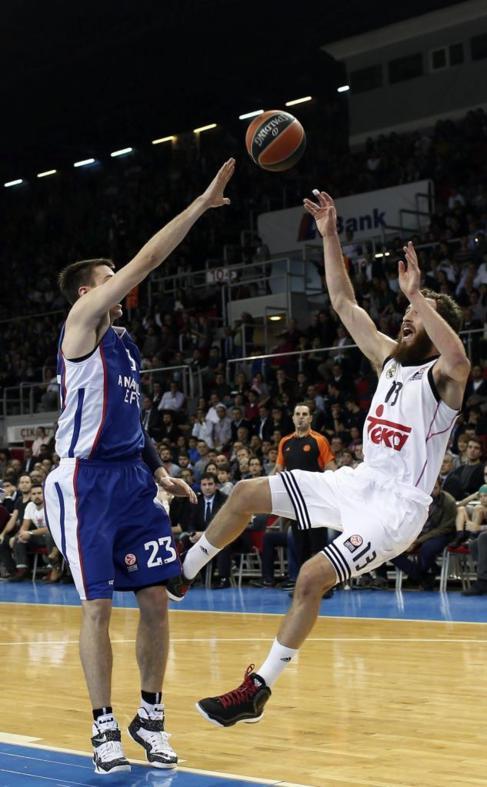 Sergio Rodríguez, en un momento del partido.