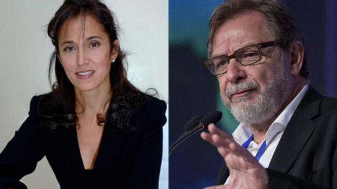 Teresa Aranda y Juan Luis Cebrián.