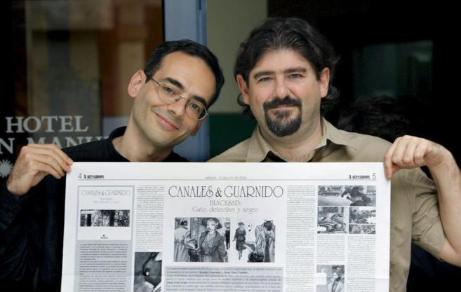 Los autores: Juan Díaz Canales (izda) y Juanjo Guarnido.