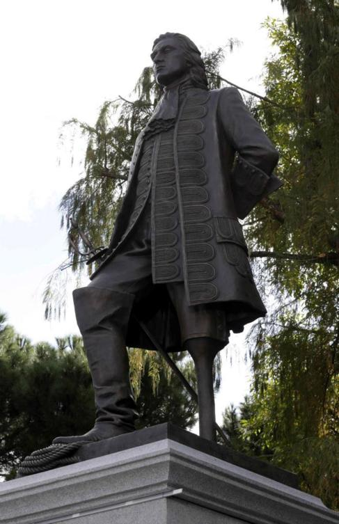 Monumento a Blas de Lezo que ha inaugurado hoy el rey Juan Carlos.