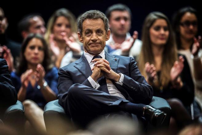 Nicolas Sarkozy, en un acto en Saint Etienne.