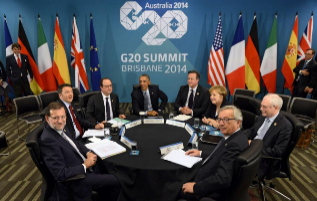 Mariano Rajoy, junto a Matteo Renzi, Francois Hollande, Barack Obama,...