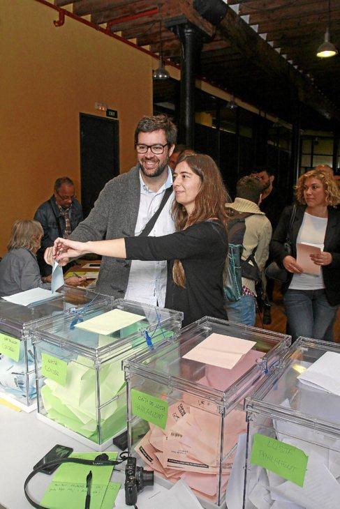 El concejal y nuevo candidato de Més en Cort, Toni Noguera, ayer.