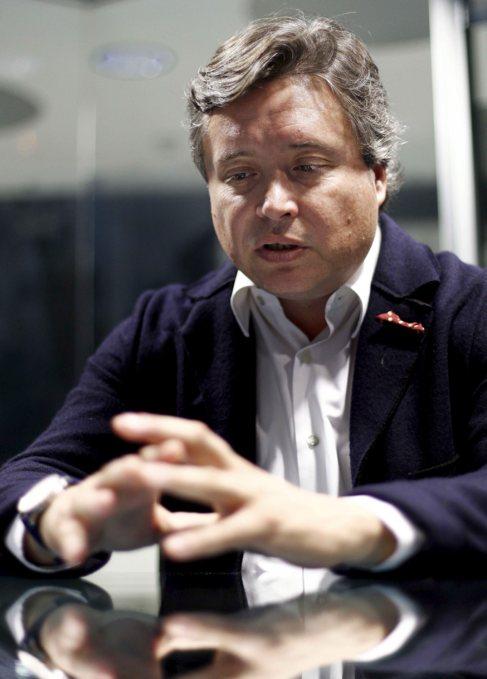 Luis Santamaría, durante la entrevista con EL MUNDO.