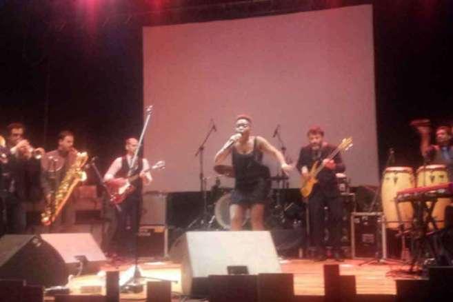 Un momento de la actuación de Freedonia en Rabat.
