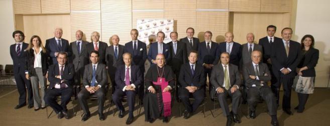 El arzobispo Carlos Osoro presidiendo la reunión del patronato de la...
