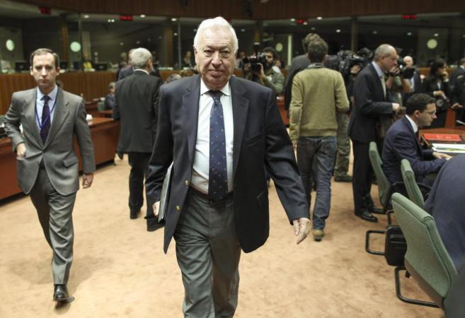 José Manuel García-Margallo llega al consejo de ministros de...
