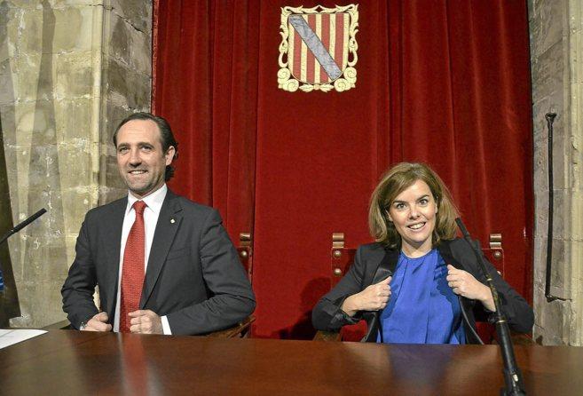 El president del Govern, José Ramón Bauzá, y la vicepresidenta del...