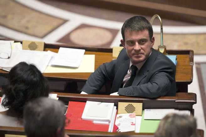 El primer ministro francés, Manuel Valls, en la Asamblea.