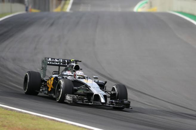 Magnussen (McLaren), durante el pasado Gran Premio de Brasil.