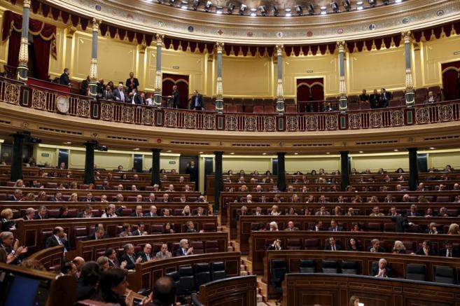 Sesión en el Congreso de los diputados.