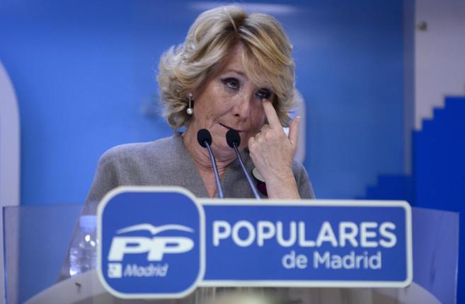 Esperanza Aguirre, en un acto el pasado octubre.