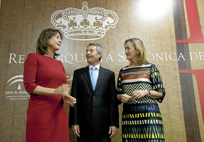 Monserrat Iglesias (Inaem), Francisco Pérez Moreno (Junta) y Mª Mar...