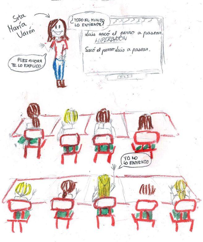 Dibujo realizado por Cristina Puyol Fuertes (12 años).