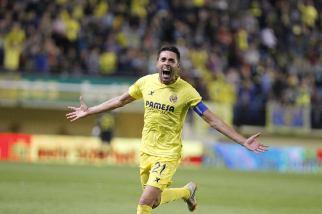 Bruno celebra un gol con el Villarreal