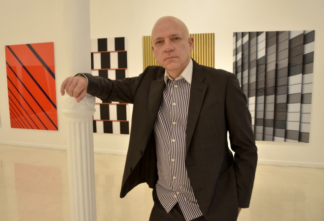 Roland Fischer en la galeria Pelaires durante la presentación de...