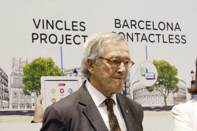 Xavier Trias, durante un acto en el Smart City Expo de Barcelona.