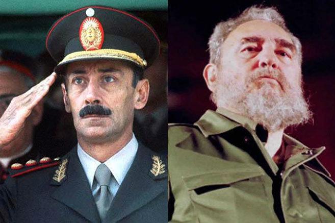 Videla y Castro, durante su etapa al frente del Gobierno argentino y...