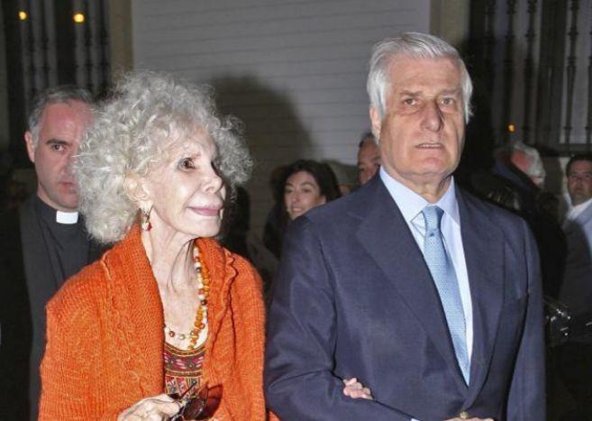 Doña Cayetana y el duque de Huéscar, juntos en 2011.