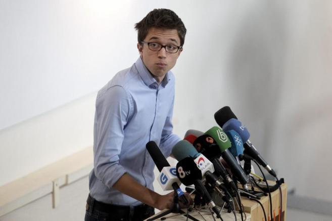 Íñigo Errejón, el pasado lunes, en una rueda de prensa tras la...