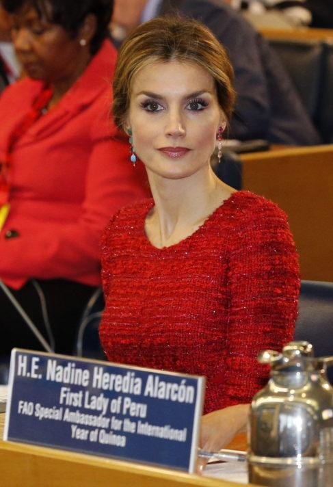La Reina Letizia Ortiz, durante la Segunda Conferencia sobre...