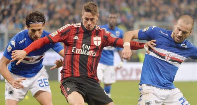 Torres, en un partido contra la Sampdoria.