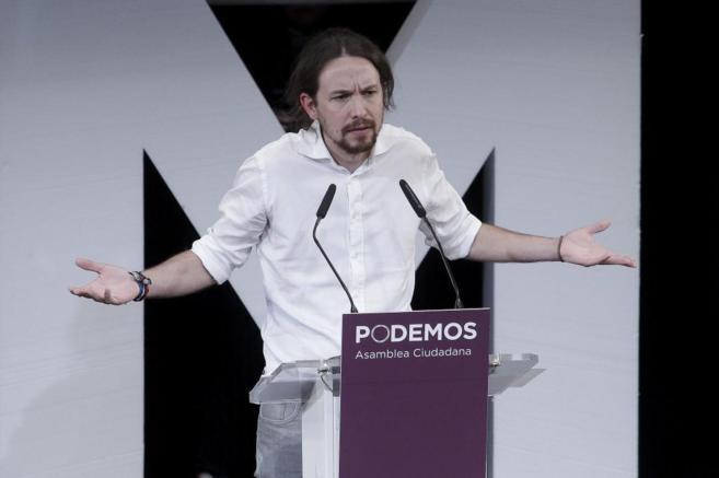 Pablo Iglesias, durante el acto en el que fue nombrado secretario...