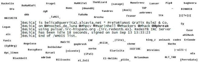 En cuenta de Facebook Ex-IRC Hispano aparecen los nicks antiguos más...