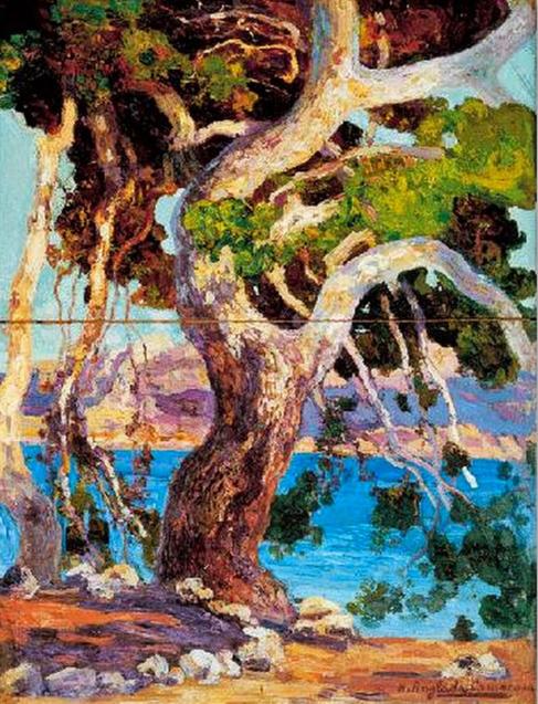 Una de las obras del pintor Anglada Camasa que participa en la...