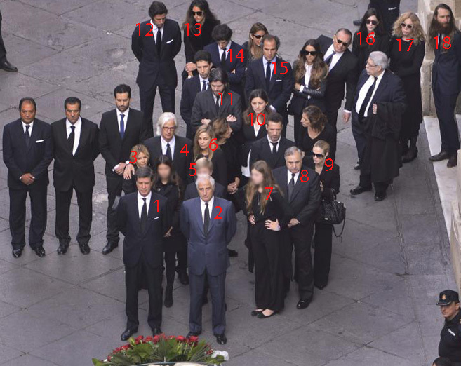 La familia de la duquesa de Alba: 1. Cayetano M. de Irujo 2. Alfonso...