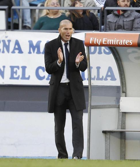 Zidane, durante el partido entre el Castilla y el Conquense.