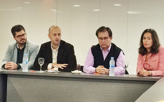Alexis Marí junto a Fran Hervías, Juan Córdoba y Cristina Giménez,...