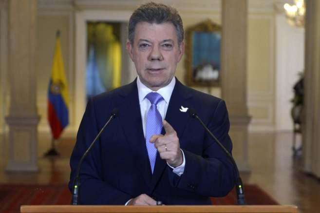 El presidente colombiano, Juan Manuel Santos, en Bogotá.