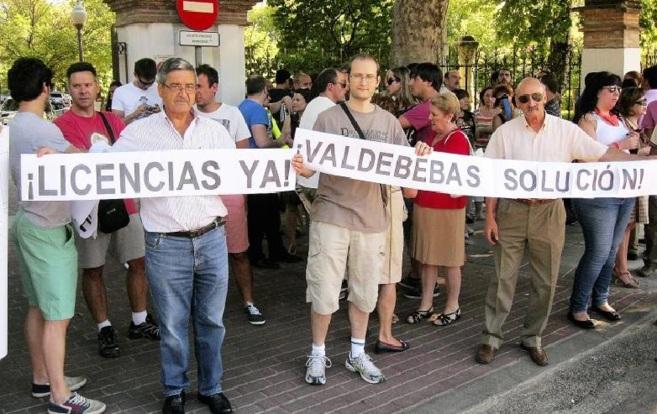 Protesta de los vecinos de Valdebebas, que pedían en julio una...