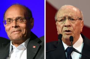 Moncef Marzouki y Beji C. Essebsi.