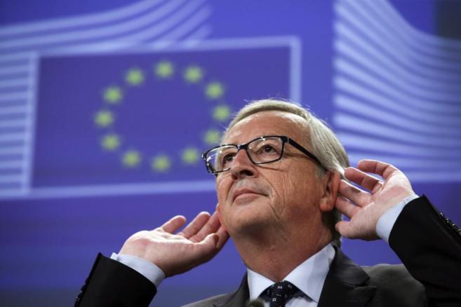 El presidente de la Comisión Europea, Jean-Claude Juncker, durante...