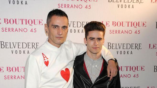 David Delfín y Pelayo Díaz, cuando aún eran pareja.